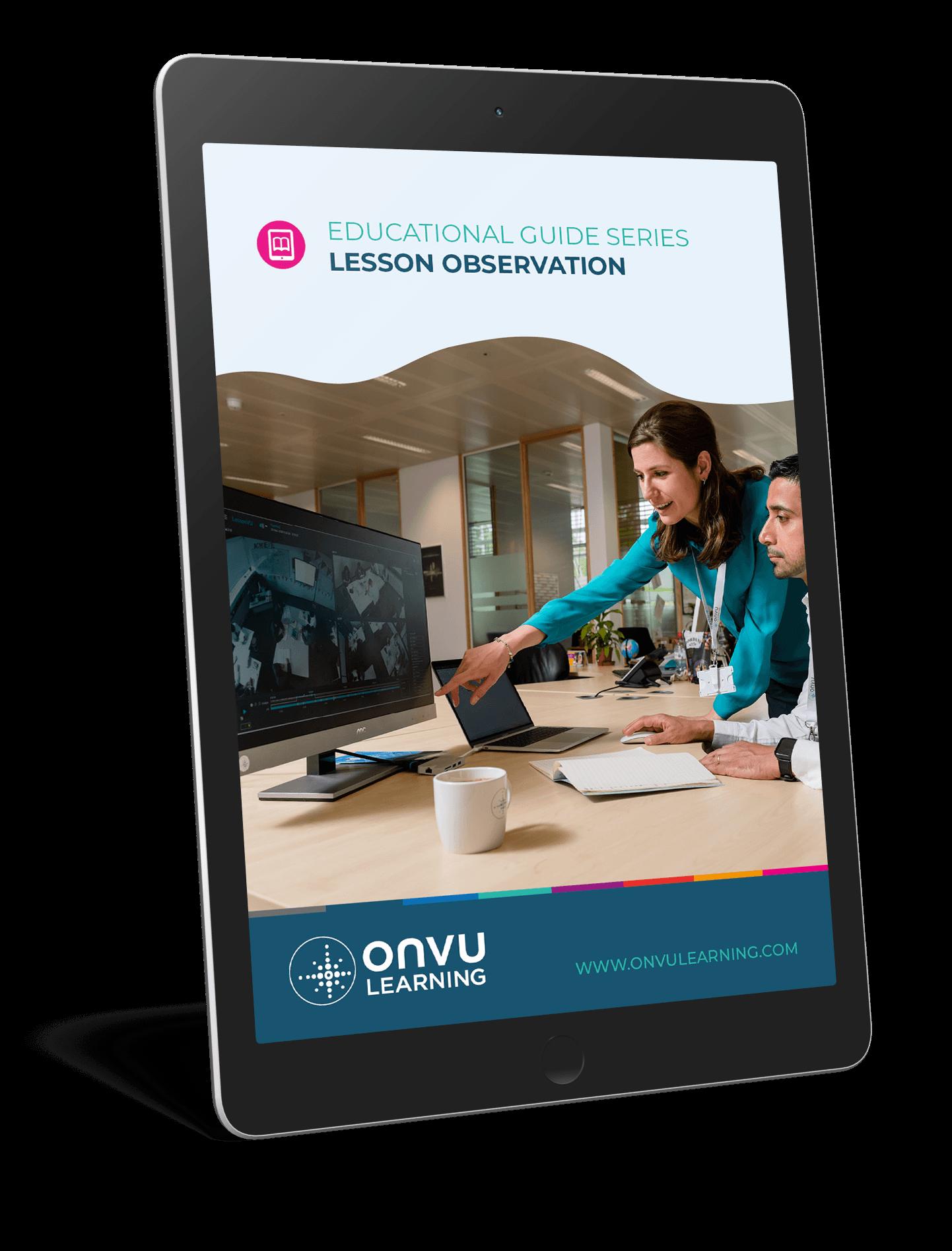 ONVU Learning Ebook Mockup Lesson Observation