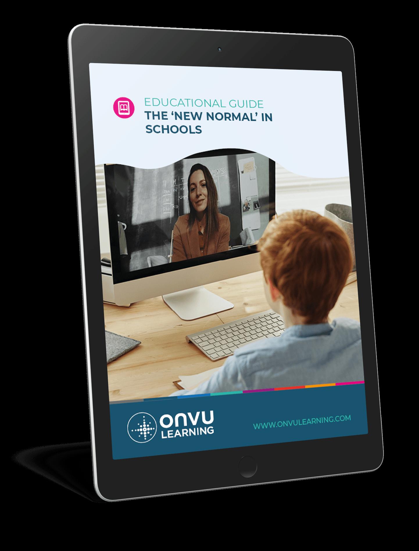 ONVU Learning Ebook Mockup New Normal In Schools