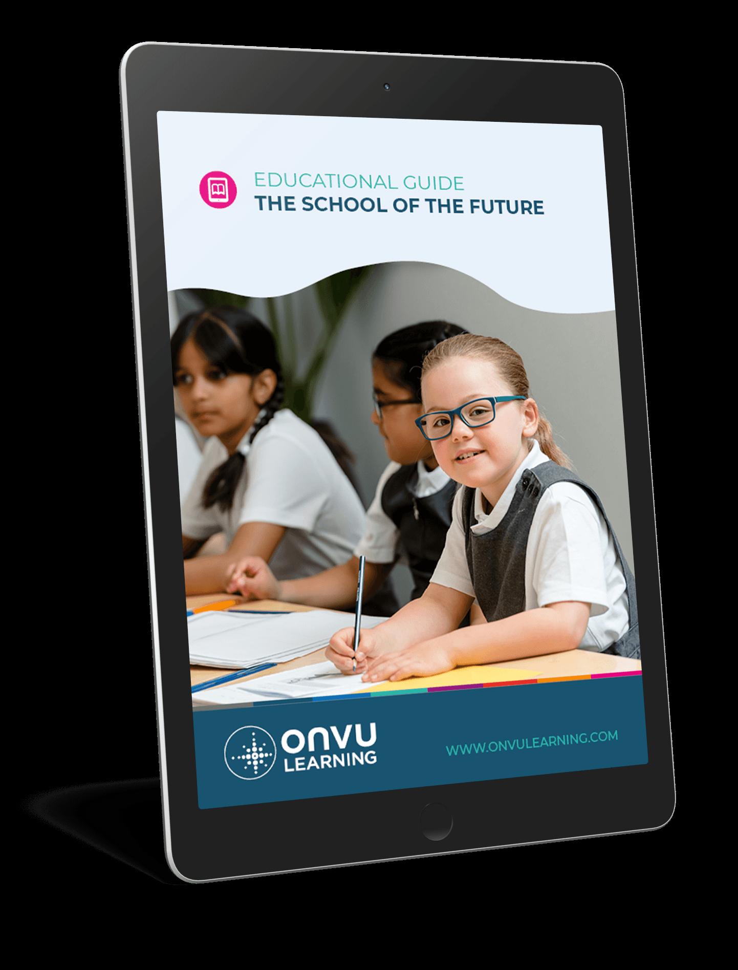 ONVU Learning Ebook Mockup School of the Future